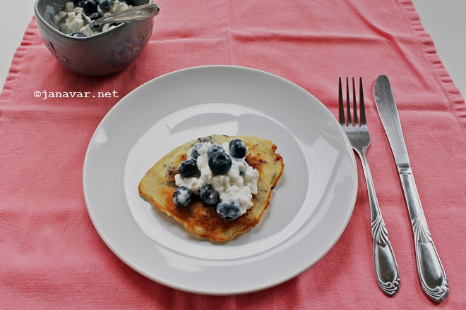 Recipe: Blueberry basil pancakes