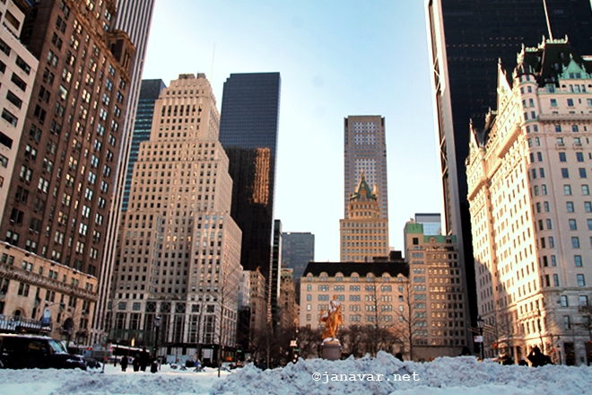 Travel: New York City covered in snow