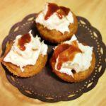 Recipe: Pumpkin Caramel Cupcakes with Salty Caramel Cream Cheese Topping