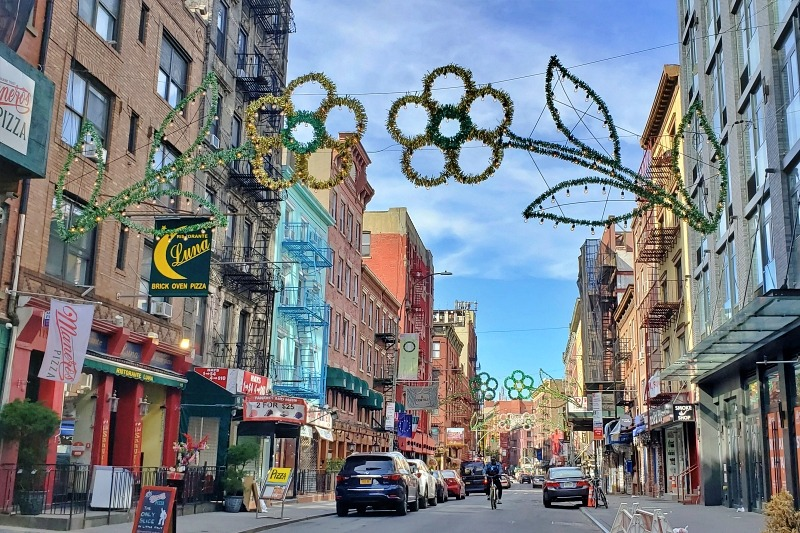 The entrance to beautiful Little Italy in NYC